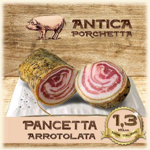 Pancetta Ariccina arrotolata