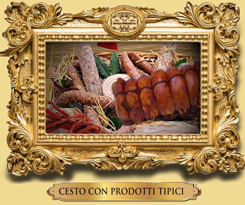 Cesto natalizio originale con prodotti tipici immagini porchetta Immagini  porchetta | Foto della porchetta CESTO deluxe CON PRODOTTI tipici Ariccia
