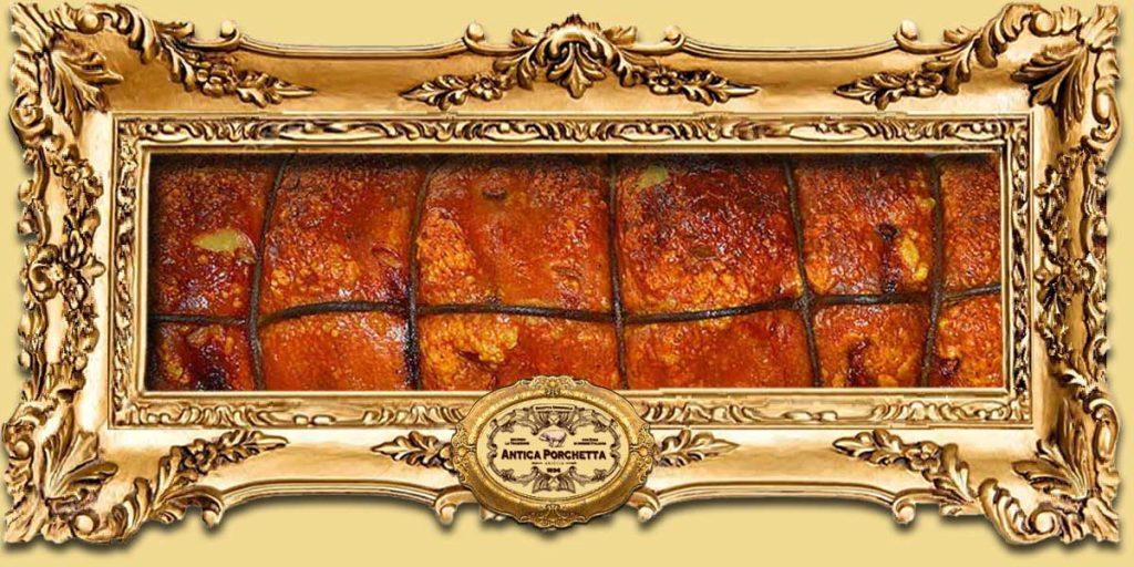 Tronchetto di porchetta pronta consegna con peso da 4 a 12 Kg.  Antica Porchetta i Nostri Prodotti PORCHETTA TRONCHETTO SLIDE