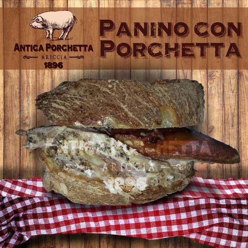 Panino porchetta, certamente con quella di Ariccia la patria della porchetta!!